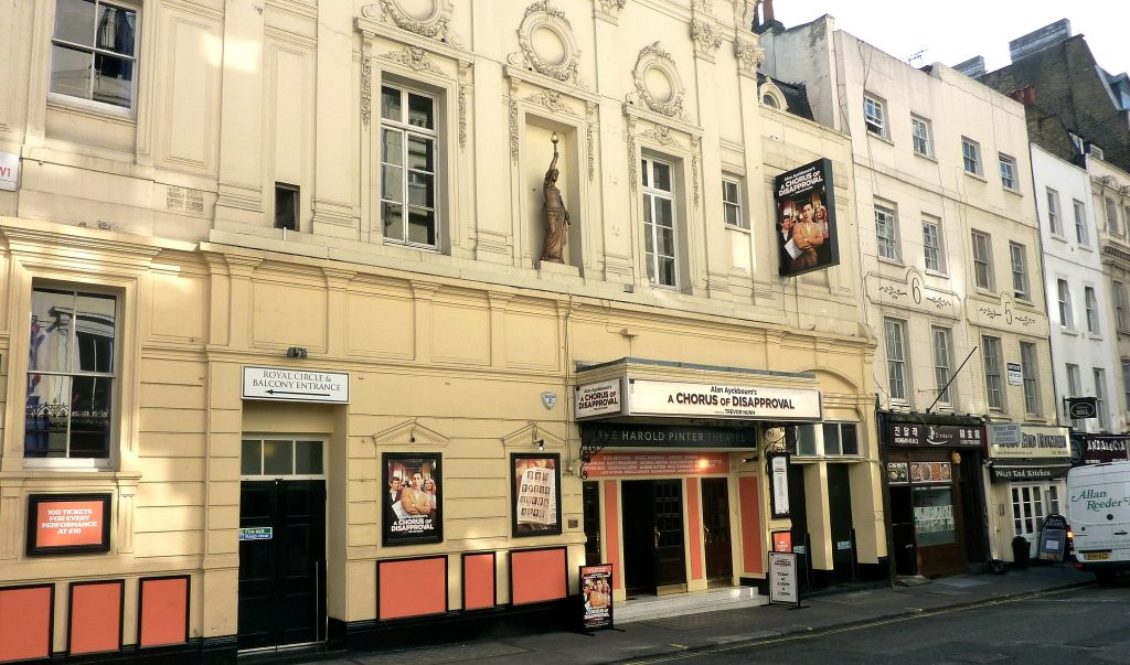 Harold Pinter Theatre: The theatre front for Mojo