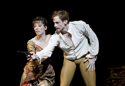 Edward Watson as Crown Prince Rudolf and Mara Galeazzi as Mary Vetsera in Mayerling