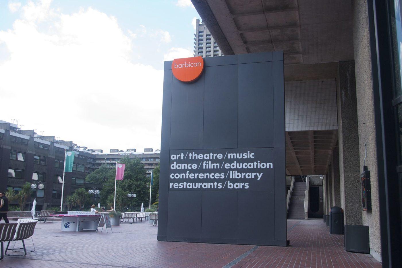 Barbican Centre entrance