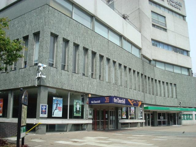 Churchill Theatre exterior
