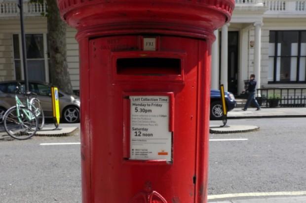 Close up of a red pillar box