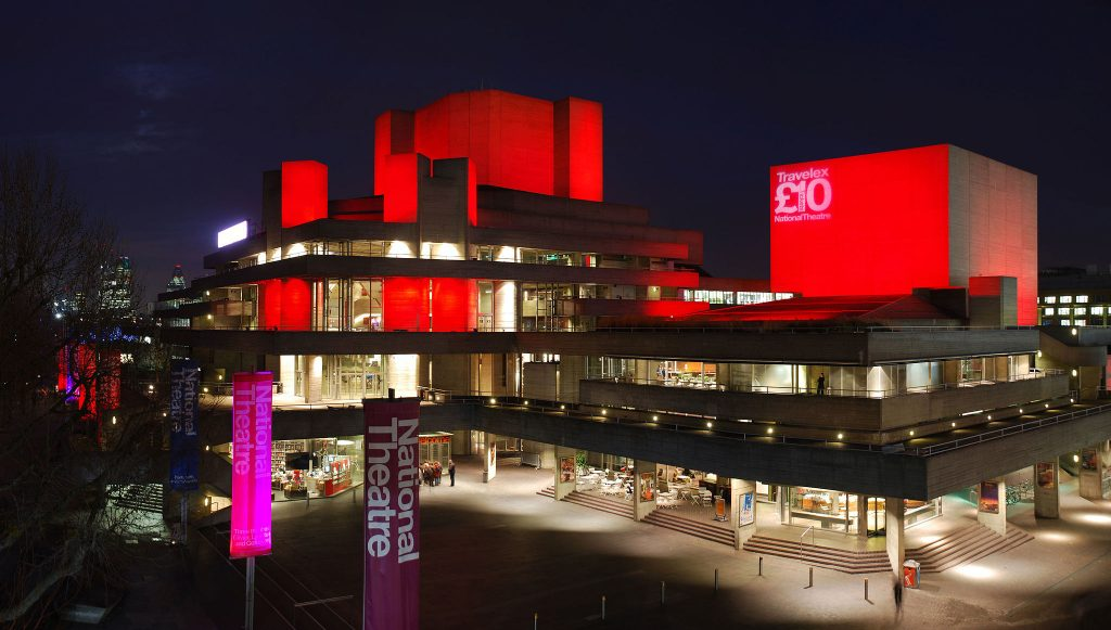 national Theatre exterior by night