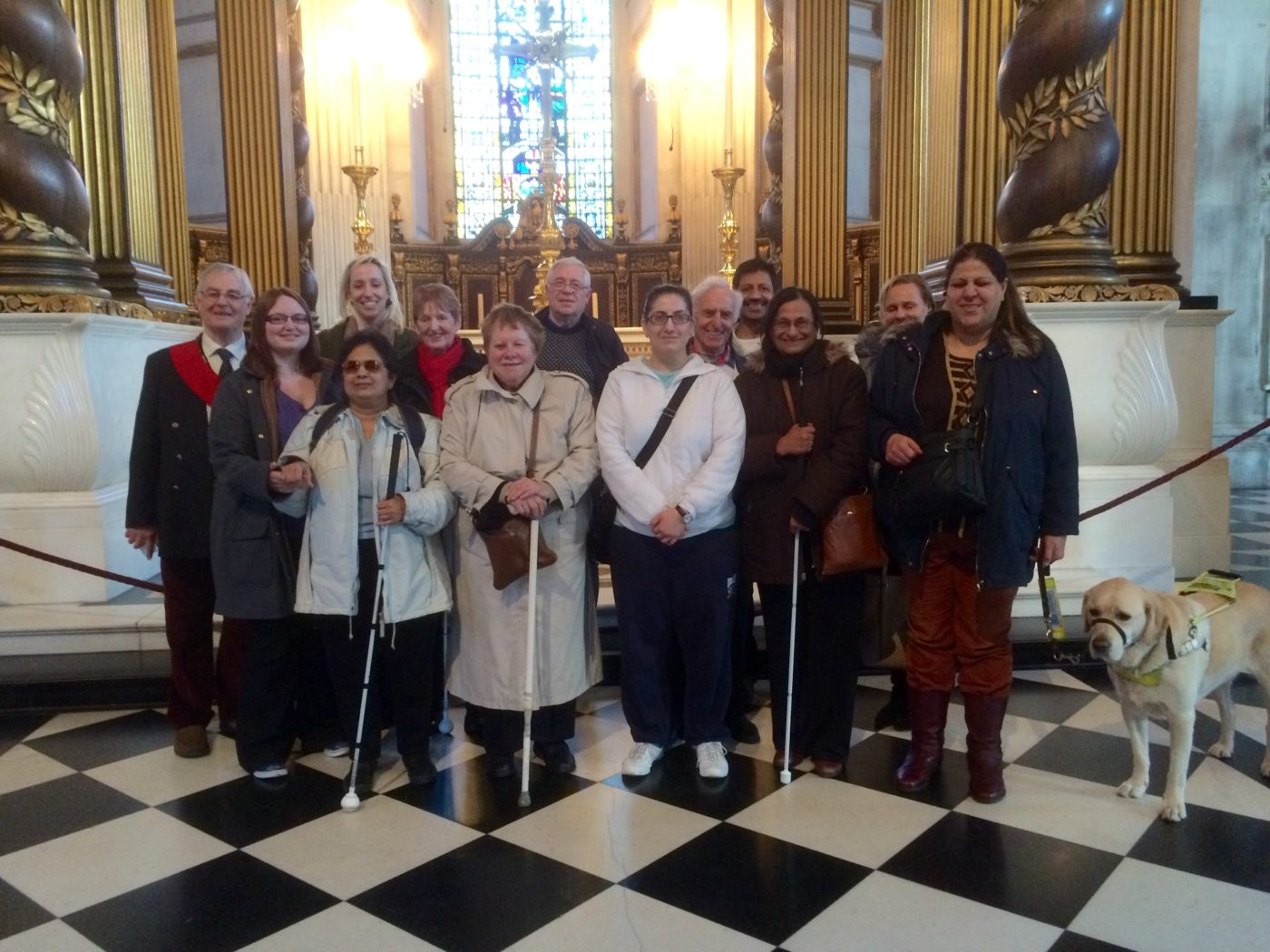Visitors to St Paul's Cathedral on Disabled Access Day 2016