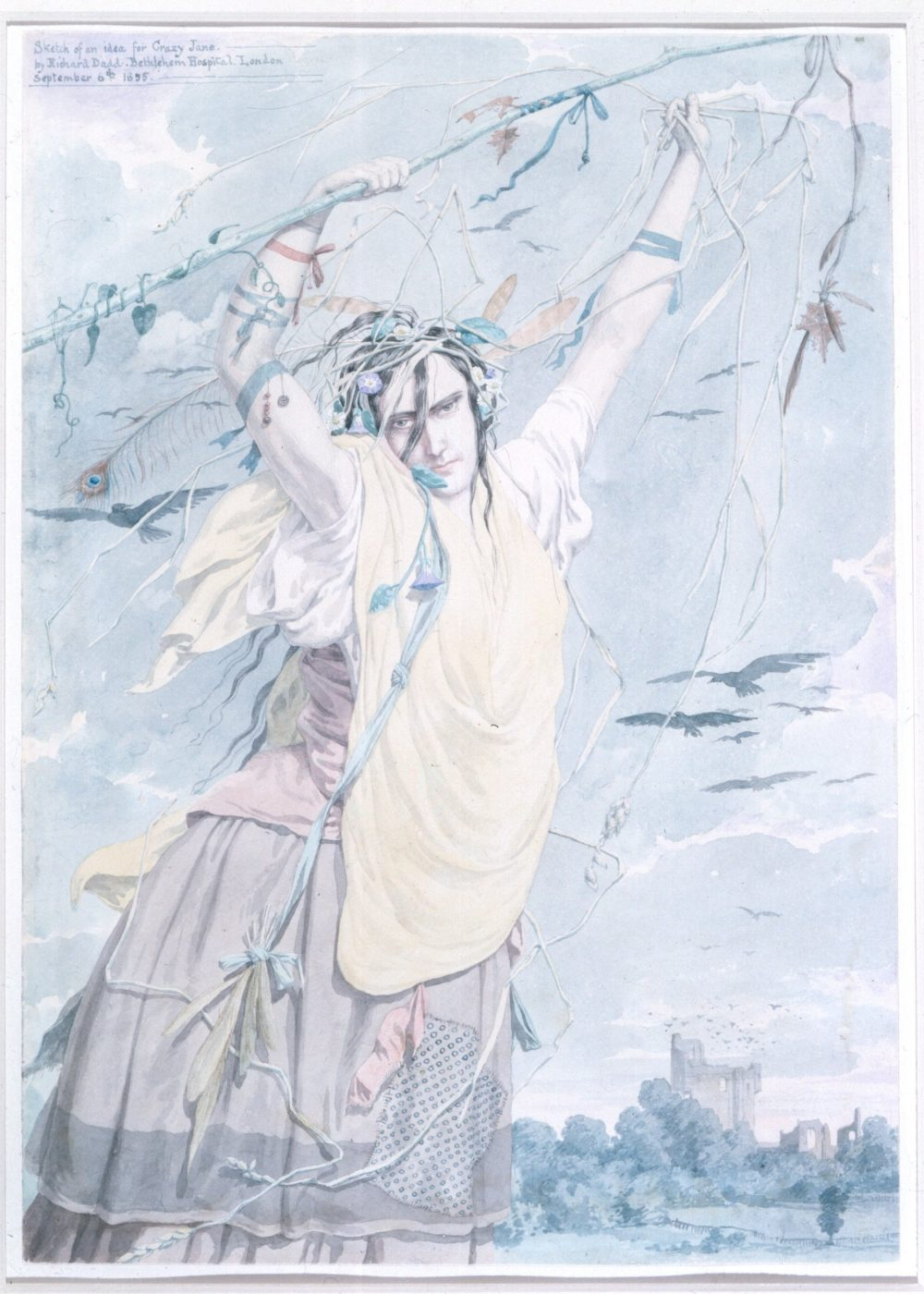 Watercolour titled Crazy Jane (1855) by Richard Dadd