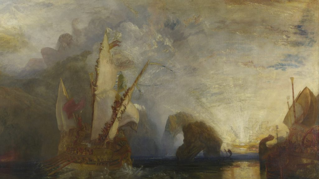 Detail: Turner Ulysses deriding Polyphemus Homer's Odyssey