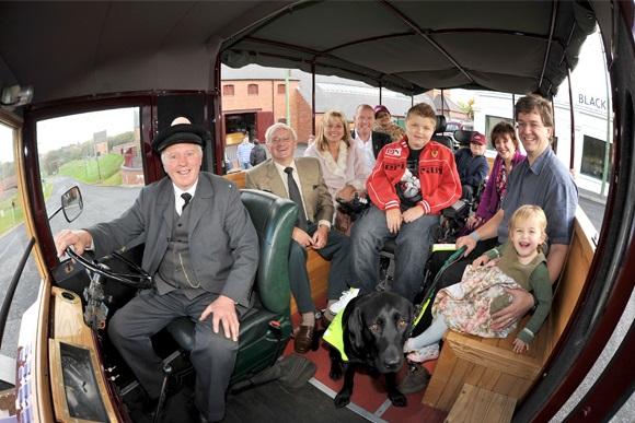 A view inside Doris showing her happy passengers
