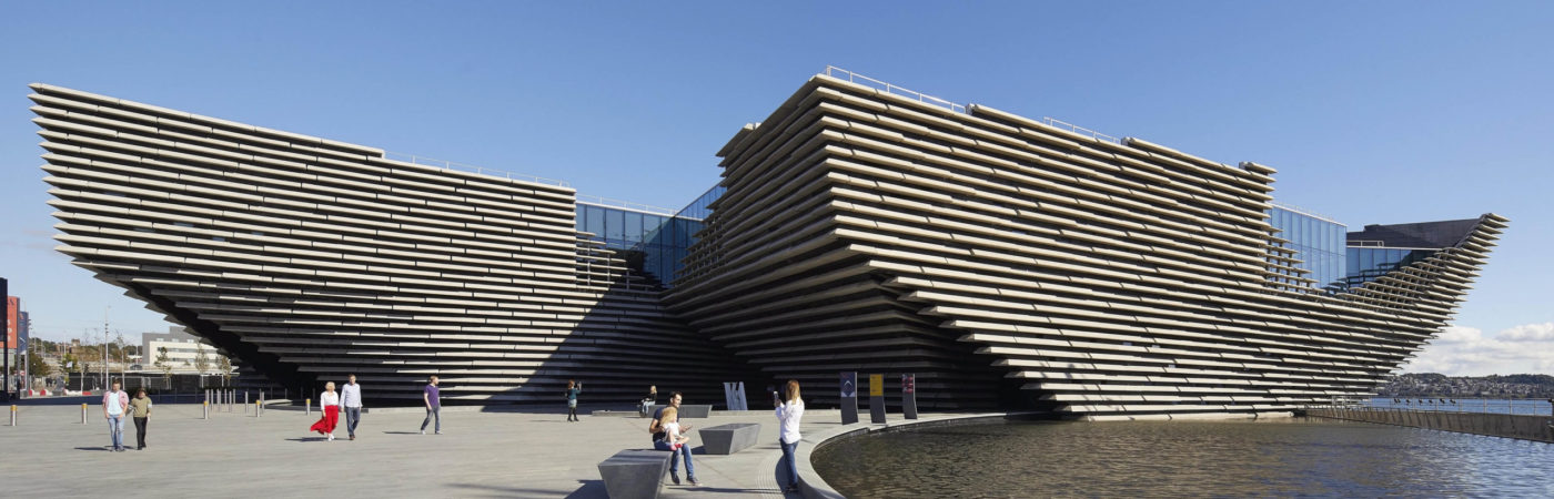 Exterior of V&A Dundee