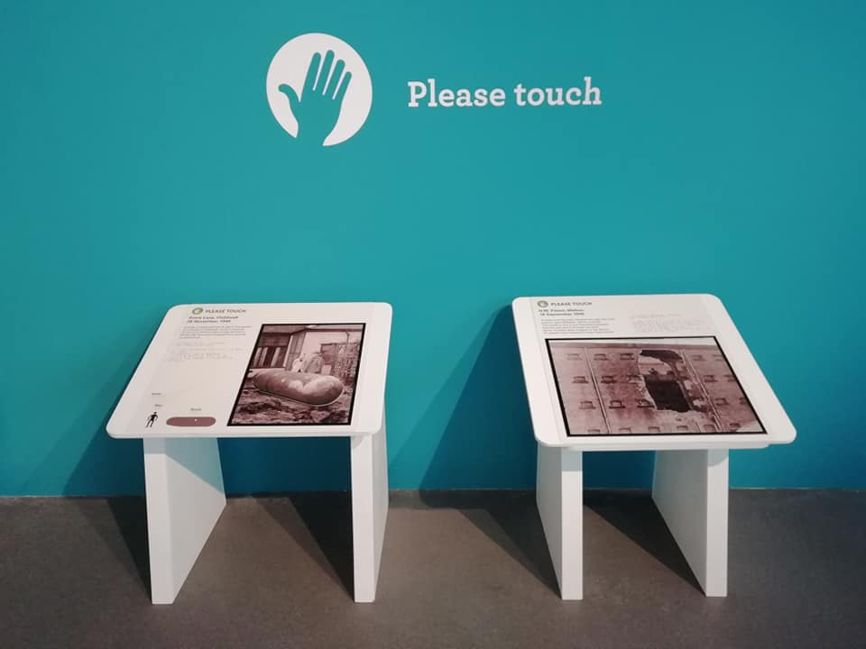 Two tactile images on display in the exhibition