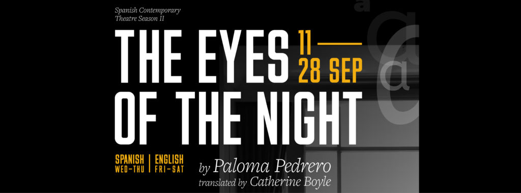 Publicity image for The Eye of The Night production at Cervantes Theatre