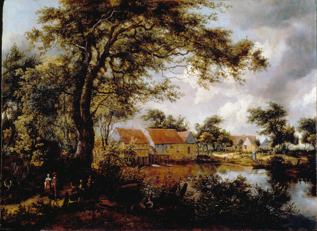 Wooded Landscape with a Water Mill.
