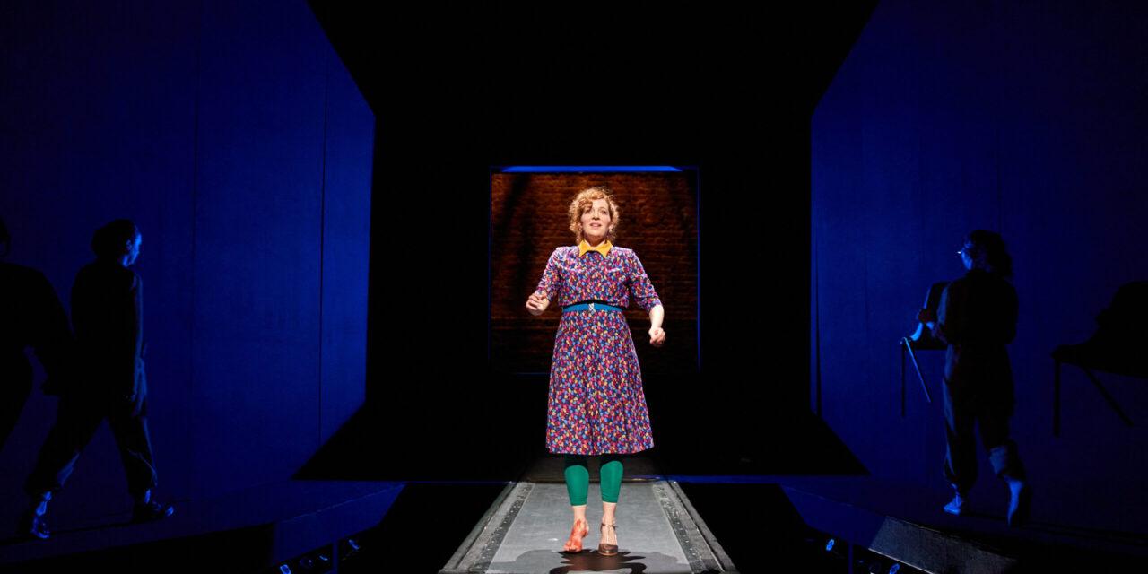 Katherine Parkinson on stage in Shoe Lady