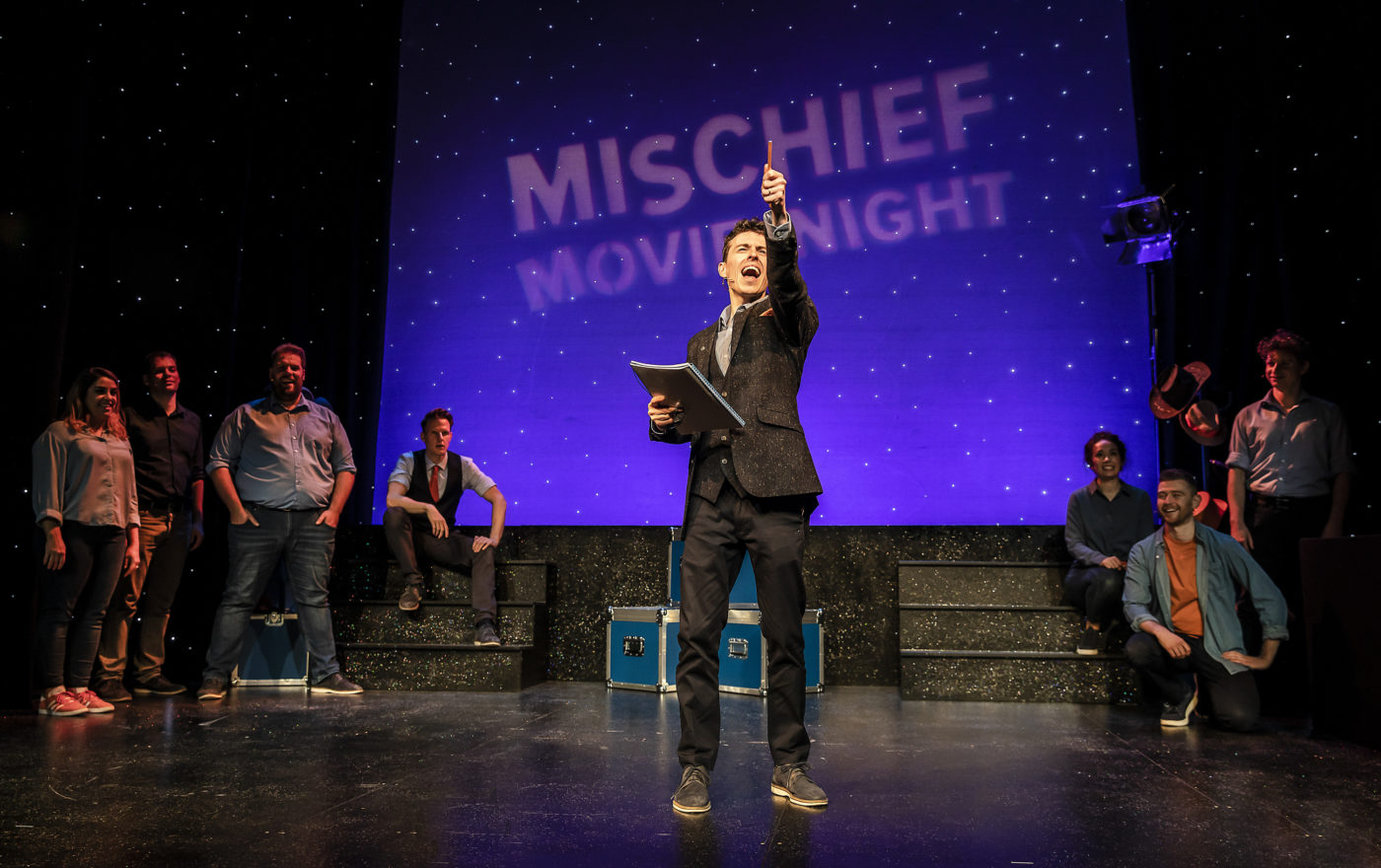 A production shot from Mischief Movie Night In.
