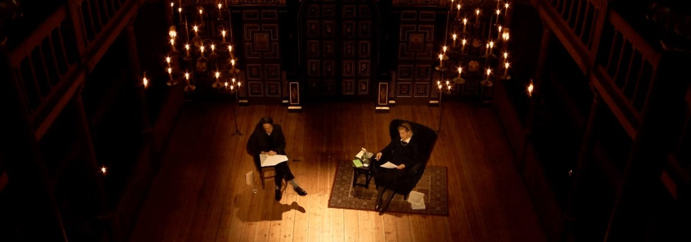 Publicity image for Dead Poets Live, writer James Leverare and actor Juliet Stevenson