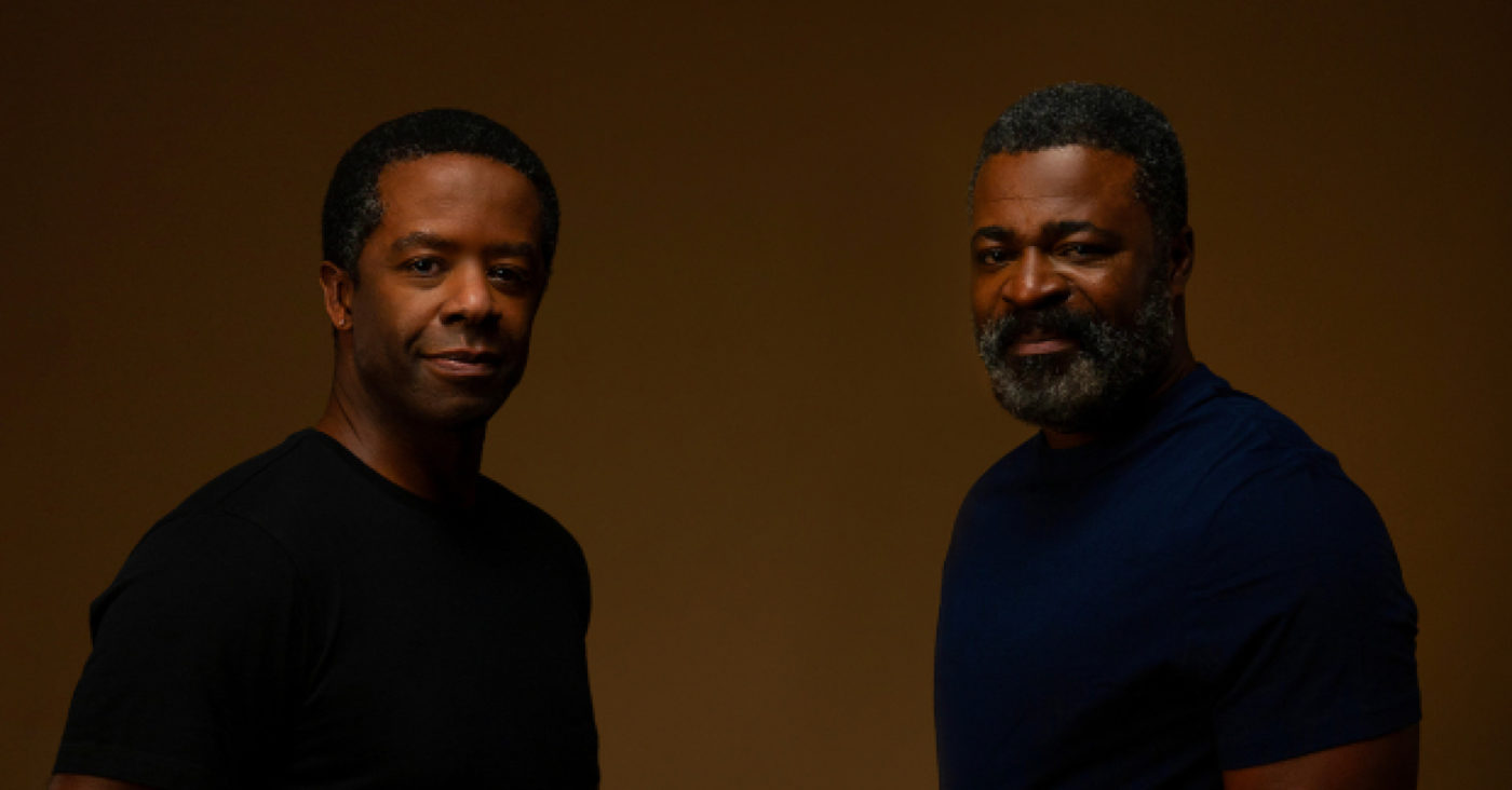 Publicity image from Hymn, actors Adrian Lester and Danny Sapani.