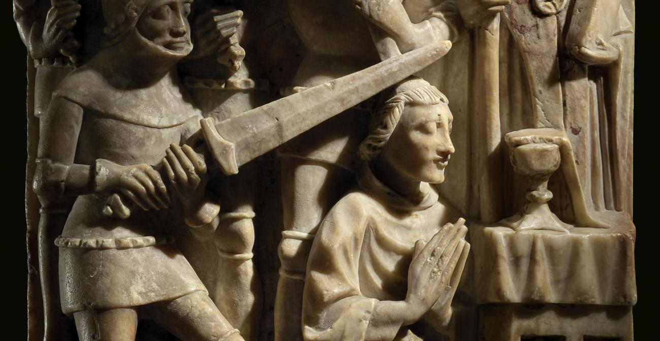 Alabaster sculpture representing the murder of Thomas Becket, about 1450, England. © The Trustees of the British Museum.