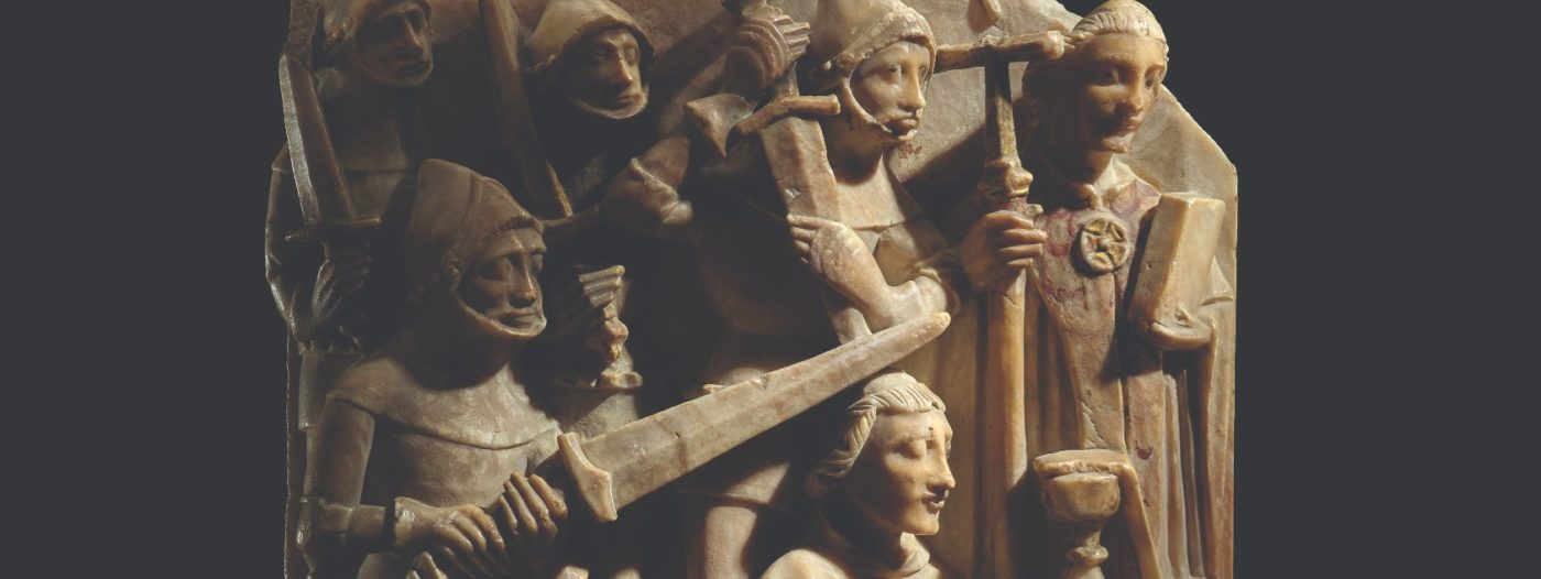 Alabaster sculpture showing the murder of Thomas Becket, about 1450, England. © The Trustees of the British Museum.