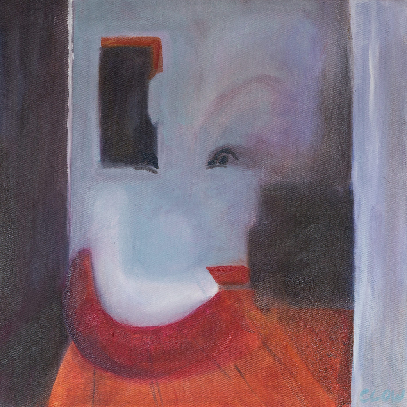 An abstract painting titled The Clown's Face.
