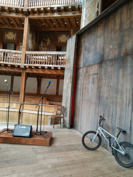 stage set for Romeo & Juliet