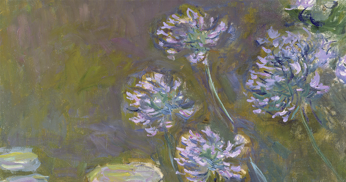 Claude Monet's Water Lilies and Agapanthus, 1914–1917, oil on canvas